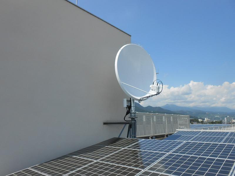 衛星アンテナ設置